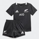 Camiseta Ninos Kit Nueva Zelandia All Blacks Rugby 2019-2020 Local