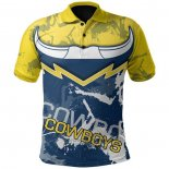 Camiseta Polo North Queensland Cowboys Rugby 2021 Indigena