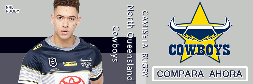 camiseta rugby North Queensland Cowboys baratas